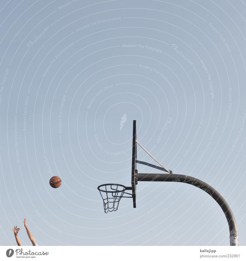 fingerspitzengefühl Lifestyle Stil Freude Sport Fitness Sport-Training Ballsport Sportstätten Mensch Hand Finger 2 werfen Basketball Basketballkorb Treffer Ziel