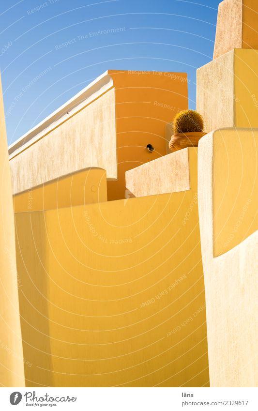 Bauwerke Stadt schön Haus Wärme Architektur Leben Wand Wege & Pfade Gebäude Mauer Fassade Häusliches Leben Zufriedenheit Perspektive einzigartig einfach