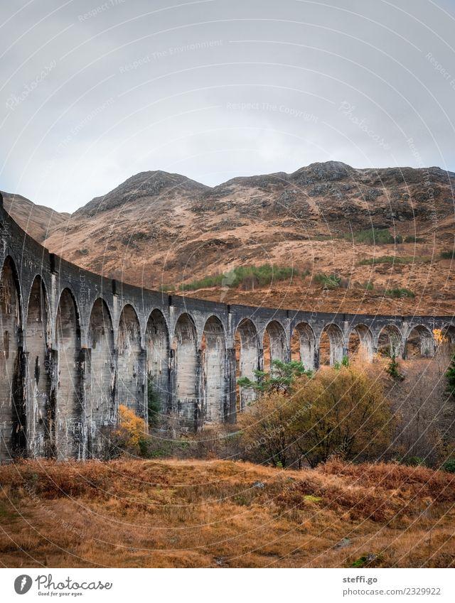 Viadukt in Schottland; Drehort Harry Potter Ferien & Urlaub & Reisen Tourismus Ausflug Abenteuer Ferne Freiheit Winter Berge u. Gebirge wandern Umwelt Natur