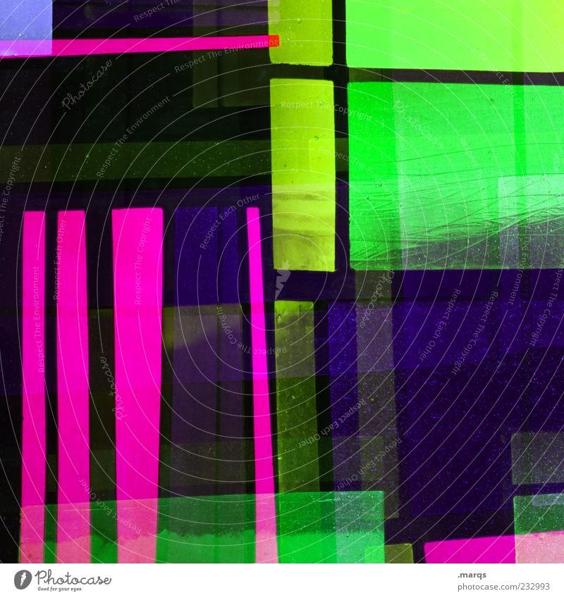 Blackberry grün Farbe Linie Kunst Glas rosa Design modern außergewöhnlich verrückt Dekoration & Verzierung leuchten einzigartig chaotisch trendy Doppelbelichtung