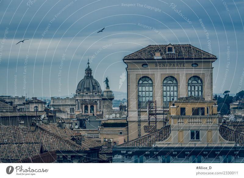 Rom die Ewige Stadt Italien Europa Lifestyle Ferien & Urlaub & Reisen Architektur Landschaft Winter Hauptstadt Stadtzentrum Stadtrand Altstadt Skyline Haus Dom