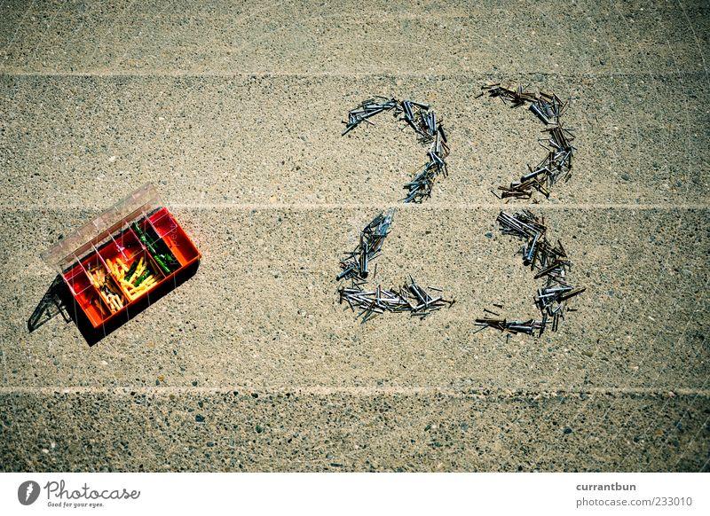 24 Beton 3 Treppe einzigartig Ziffern & Zahlen Kunststoff Kasten skurril Nagel Werkzeug schrauben 23 Schriftzeichen Werkzeugkasten Dübel