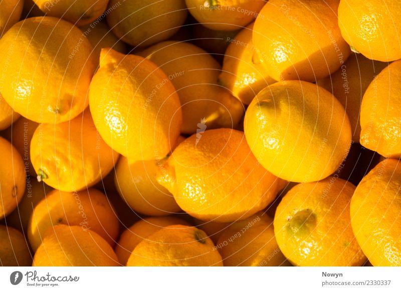 Frische Zitronen gelb Gesundheit Lebensmittel Frucht Ernährung glänzend gold frisch Bioprodukte Diät Vegetarische Ernährung sauer Zitrusfrüchte