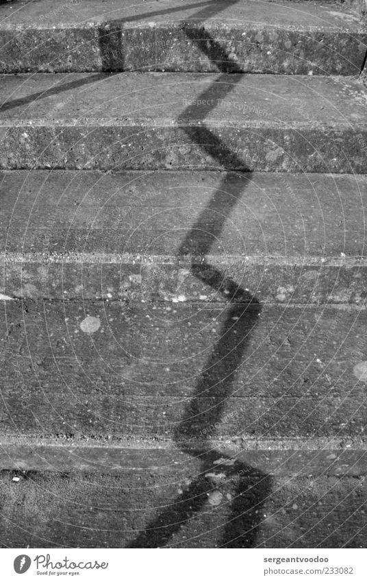 Stairway to Werdersee Bewegung grau Metall Stimmung Beton Ordnung Design Treppe ästhetisch trist Kreativität Geländer skurril Treppengeländer bizarr beweglich