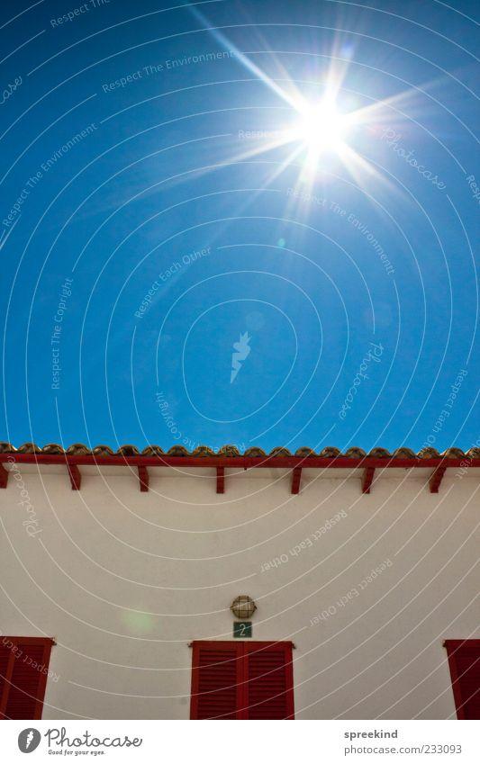 Himmel Ferien & Urlaub & Reisen Sonne Sommer Freude Haus Ferne Wand Architektur Wärme Mauer Horizont Wohnung Tourismus authentisch Europa