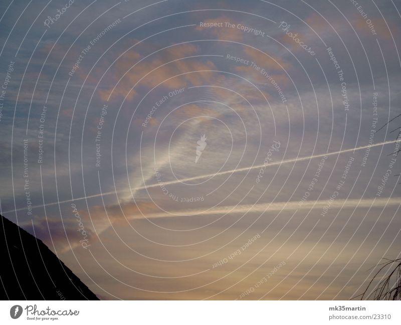 Abendstimmung Himmel Sonne Wolken Streifen Abenddämmerung