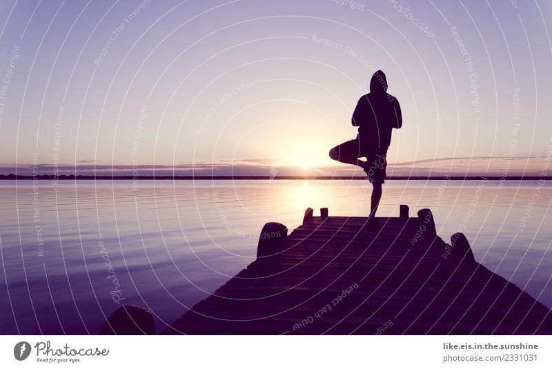 mein Moment. Sport Yoga Mensch maskulin androgyn Frau Erwachsene Mann Leben 1 Natur Meer Insel Erholung genießen Gesundheit sportlich Zufriedenheit Lebensfreude