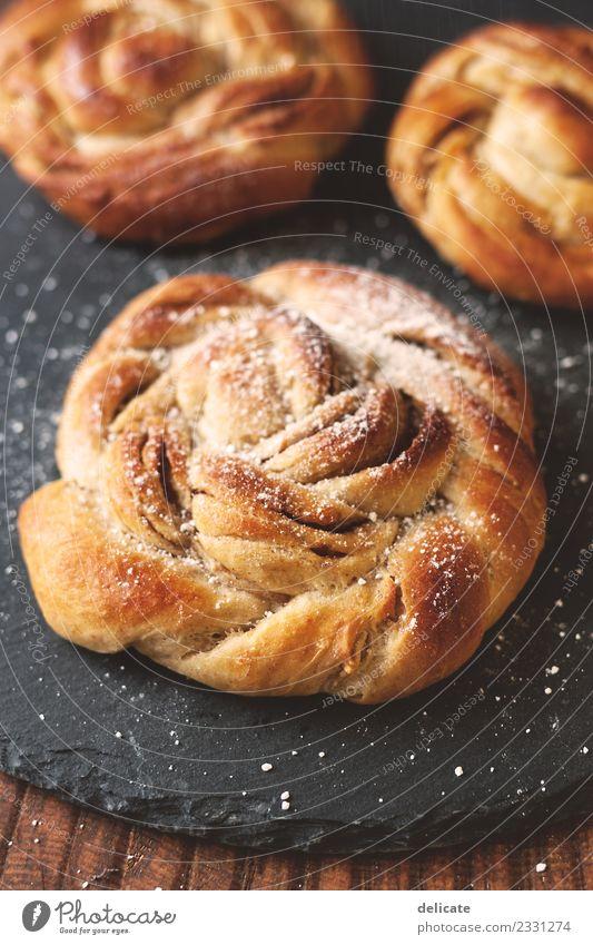 Zimtschnecke VII Lebensmittel Getreide Teigwaren Backwaren Croissant Kuchen Süßwaren backen Bäckerei Schiefer Ernährung Essen Frühstück Kaffeetrinken Abendessen
