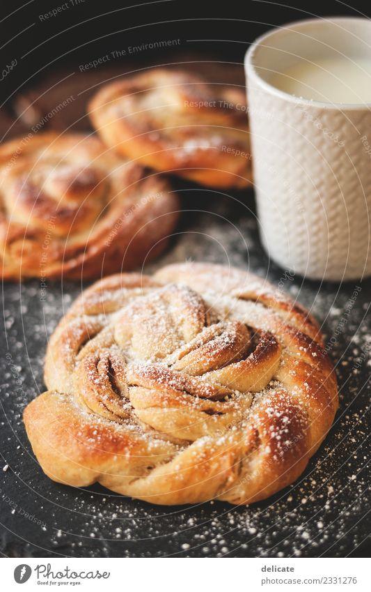 Zimtschnecke V Lebensmittel Getreide Teigwaren Backwaren Croissant Kuchen Süßwaren Ernährung Essen Frühstück Kaffeetrinken Büffet Brunch Bioprodukte