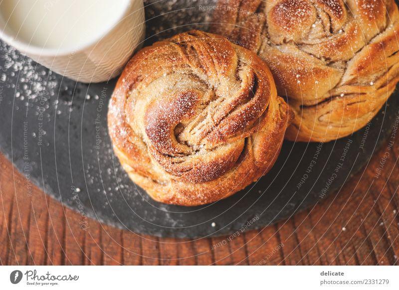 Zimtschnecke II Lebensmittel Getreide Teigwaren Backwaren Croissant Kuchen Süßwaren Ernährung Essen Frühstück Kaffeetrinken Büffet Brunch Bioprodukte