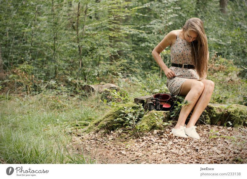 #233138 Mensch Frau Natur Jugendliche schön Baum Pflanze Sommer Einsamkeit Erwachsene Wald Erholung Leben Freizeit & Hobby sitzen warten