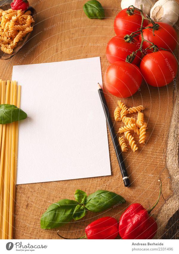Hintergrund für Pastarezepte Lebensmittel Gemüse Italienische Küche Gesundheit lecker Hintergrundbild basil blank Chili conceptual cook cooking empty food fresh