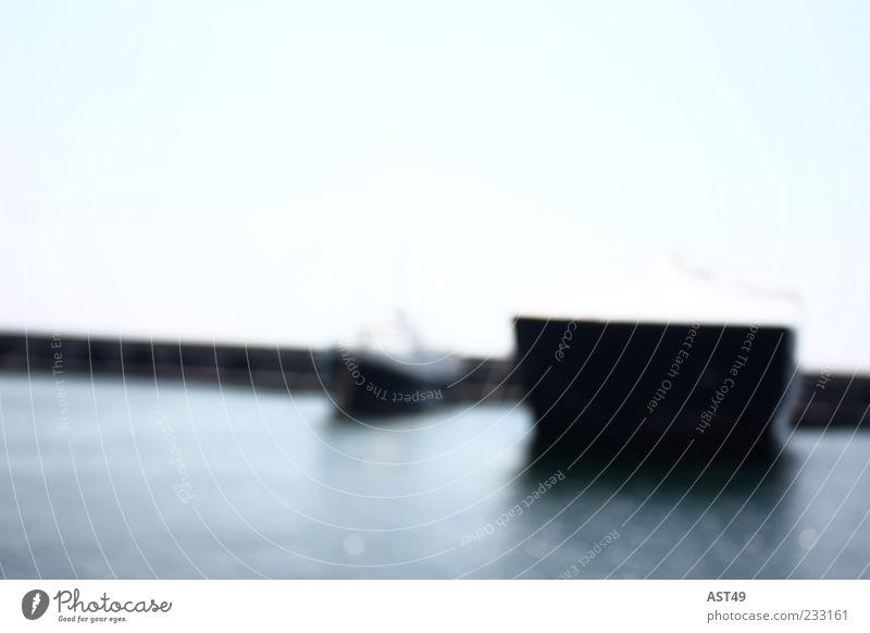 Boote Natur blau Wasser schön Sommer Meer Ferne Umwelt kalt Freiheit Küste ästhetisch Insel weich einfach Hafen