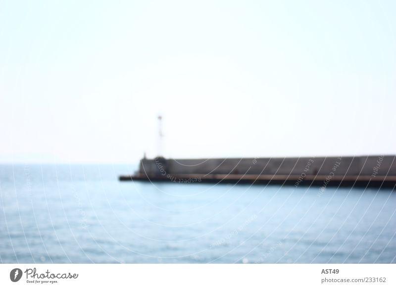 Leuchtturm Natur blau Wasser Sommer Meer Umwelt Ausflug Tourismus Hafen Mole Hafeneinfahrt