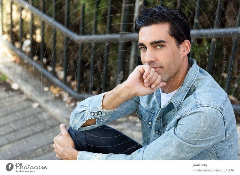 Junger Mann, Model der Mode, mit formaler Frisur Lifestyle Stil Glück Haare & Frisuren Gesicht Mensch maskulin Jugendliche Erwachsene 1 18-30 Jahre 30-45 Jahre