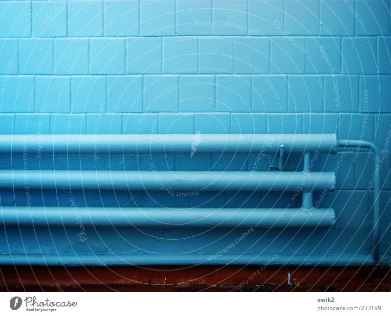 Moldavia Blue blau kalt Wand Mauer hell Fassade Energiewirtschaft trist frisch verrückt Technik & Technologie einfach Sauberkeit gruselig Fliesen u. Kacheln