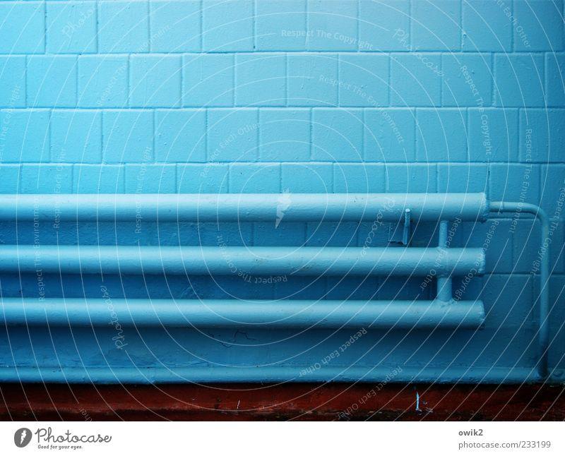 Moldavia Blue blau kalt Wand Mauer hell Fassade Energiewirtschaft trist frisch verrückt Technik & Technologie einfach Sauberkeit gruselig Fliesen u. Kacheln Röhren