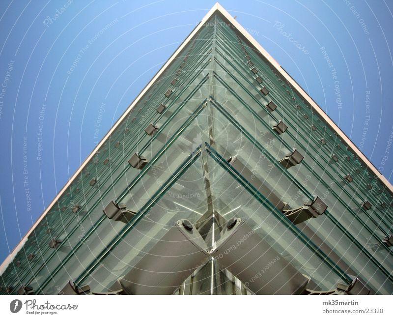 Glasfassade Haus Gebäude Architektur Fassade Ecke Jalousie