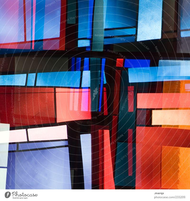 Summary Lifestyle Stil Design Kunst Glas Linie leuchten außergewöhnlich Coolness trendy einzigartig mehrfarbig chaotisch Farbe skurril Surrealismus