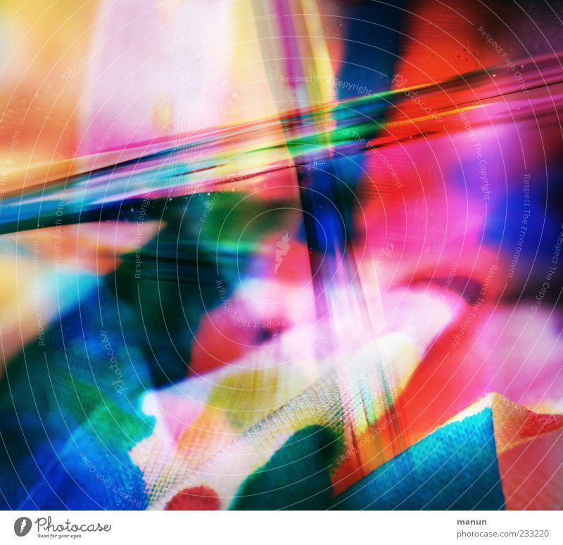 Textilbearbeitung II Stoff Wasser außergewöhnlich fantastisch Kitsch nass verrückt schön bizarr Design Farbfoto mehrfarbig abstrakt Muster Strukturen & Formen