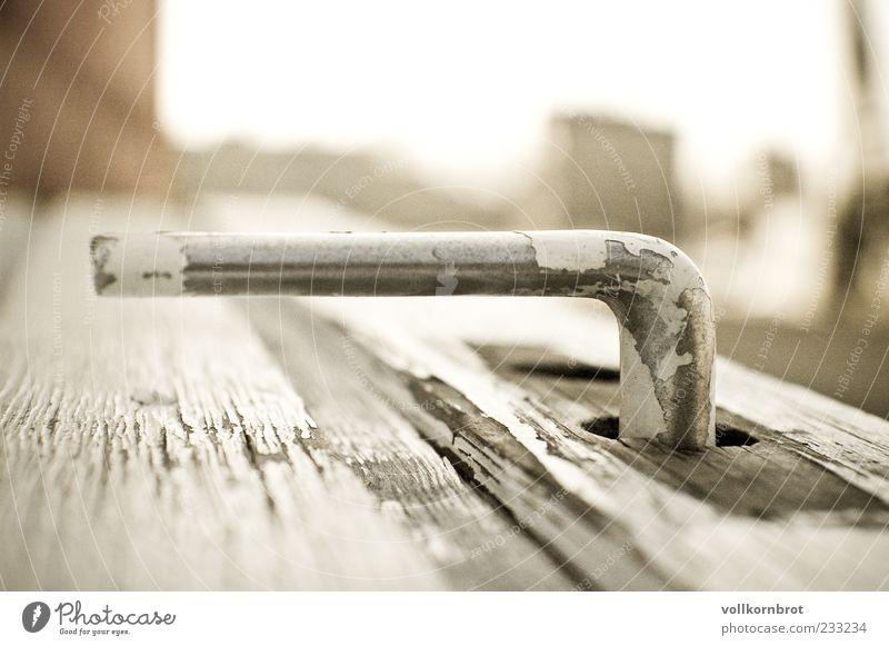 tür auf? alt Holz Metall Tür Griff abblättern Maserung