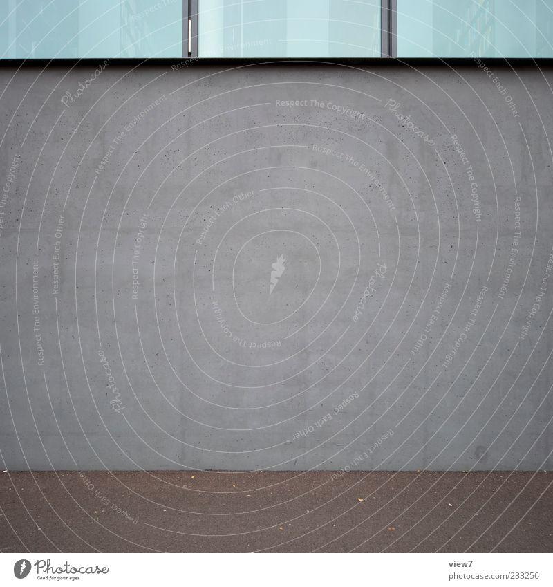 Sichtbeton Haus Wand Architektur grau Stein Mauer Gebäude Linie Hintergrundbild Glas Fassade elegant Beton Ordnung modern frisch