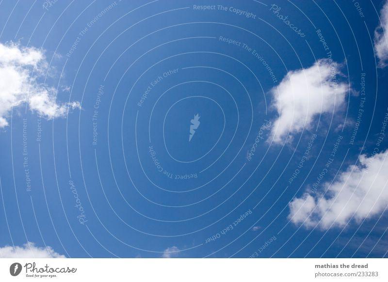 SCHÖNES WETTER Himmel blau Sommer Wolken ruhig Umwelt Luft hell Wetter Klima frei Klarheit Schönes Wetter Perspektive luftig Altokumulus floccus