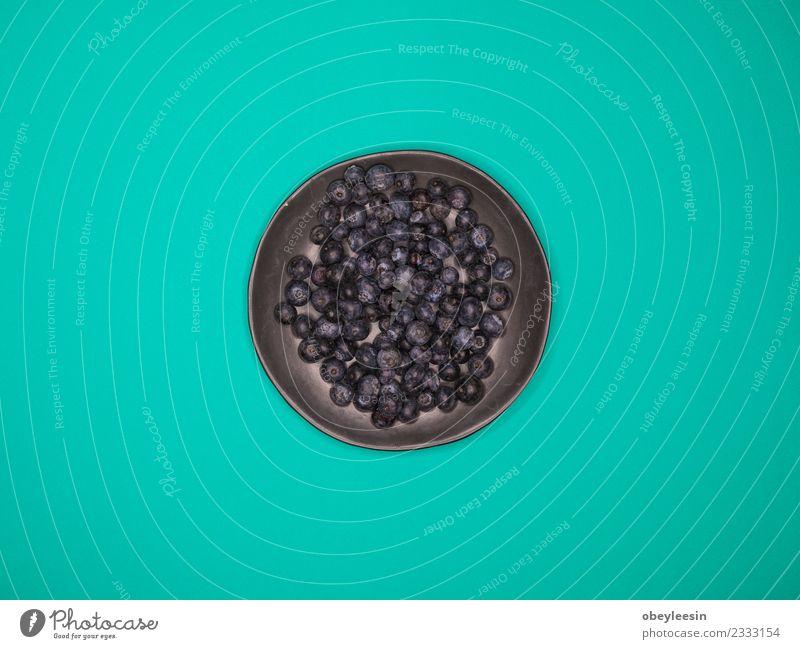 Heidelbeeren Frucht in Schale, Bunter Hintergrund Dessert Ernährung Essen Vegetarische Ernährung Diät Saft Schalen & Schüsseln Sommer Garten Küche