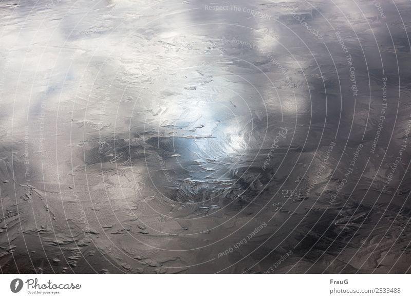 eiskalt |Textur Himmel Farbe Wolken Winter See Eis Schönes Wetter Frost gefroren frieren Eiskristall Eisfläche