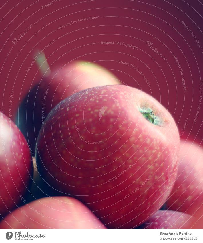 rundesache. rot Ernährung Lebensmittel Frucht liegen mehrere Apfel Vitamin biologisch vitaminreich