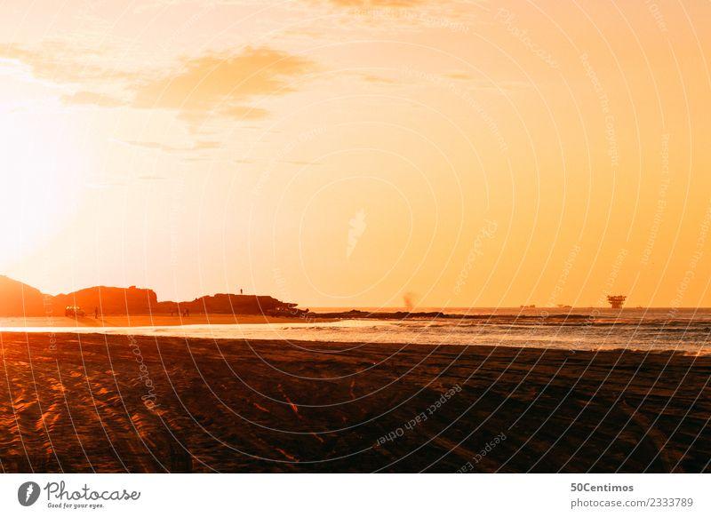 Sunset at Lobitos, Peru Himmel Ferien & Urlaub & Reisen Sommer Landschaft Sonne Meer ruhig Ferne Strand Küste Tourismus Freiheit Ausflug Freizeit & Hobby