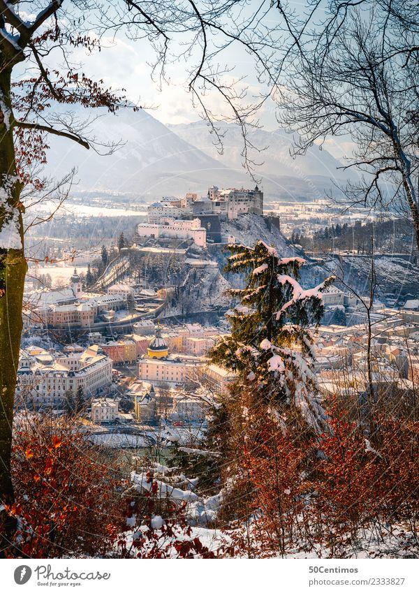 Unsere Festung Hohensalzburg in Winterstimmung Ferien & Urlaub & Reisen Tourismus Ausflug Abenteuer Städtereise Schnee Winterurlaub Berge u. Gebirge wandern