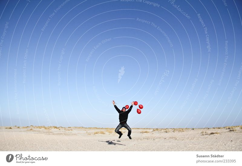Spiekeroog | 4 tolle Tage Mann Meer Strand Freude Erwachsene Ferne Leben Glück springen lustig elegant maskulin Erfolg verrückt Schönes Wetter Luftballon