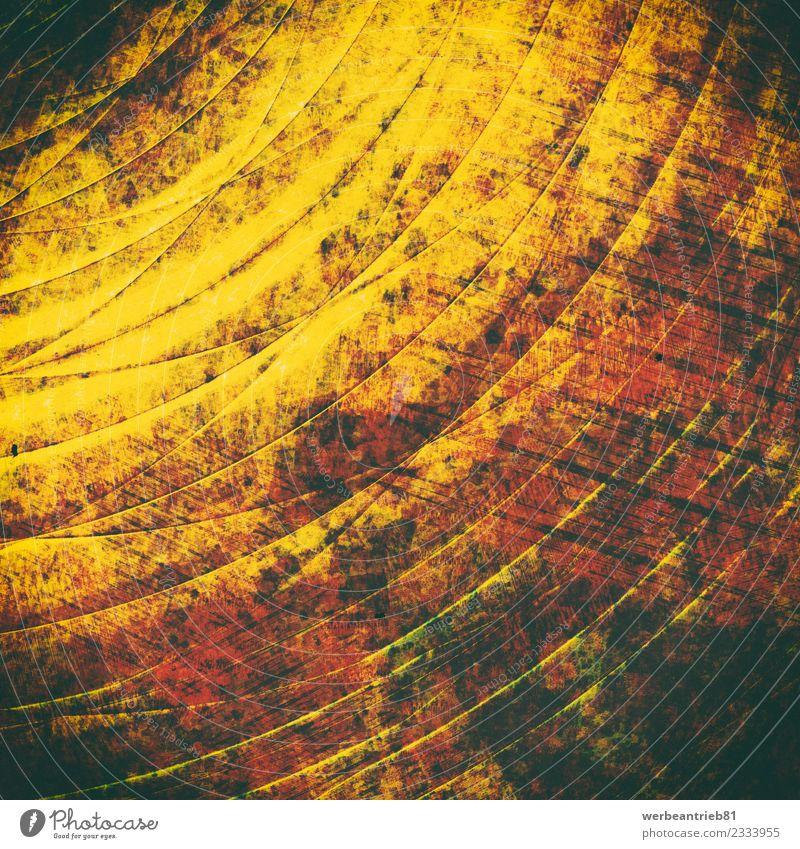 Goldgelbe metallene Oberfläche mit Rillenstrukturen alt Sommer Sonne Wand Hintergrundbild Stil Kunst Mauer Fassade Design Metall retro dreckig elegant gold