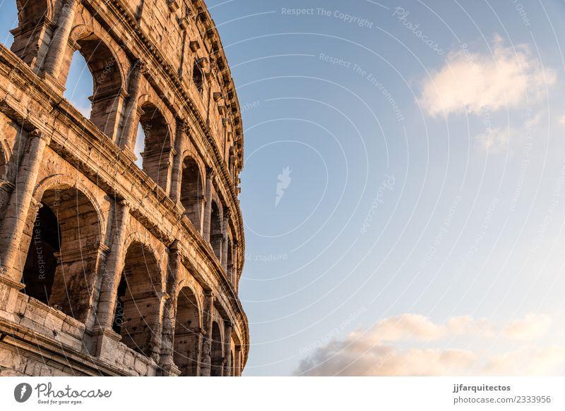 Himmel Ferien & Urlaub & Reisen alt Sommer Architektur Gebäude Tourismus Stein Kultur Europa Italien historisch Denkmal Theater Ruine antik