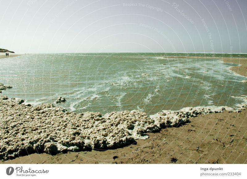 Schaumschläger Himmel Natur Wasser schön Ferien & Urlaub & Reisen Meer Strand Ferne Erholung Sand Stimmung Wellen Insel authentisch Nordsee Schaum
