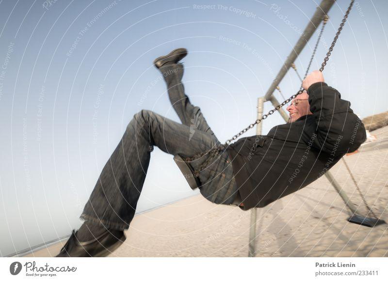 Spiekeroog | time in motion schön Strand Meer Mensch maskulin Mann Erwachsene Leben Beine 1 45-60 Jahre Umwelt Natur Sand Himmel Wetter Schönes Wetter Schuhe