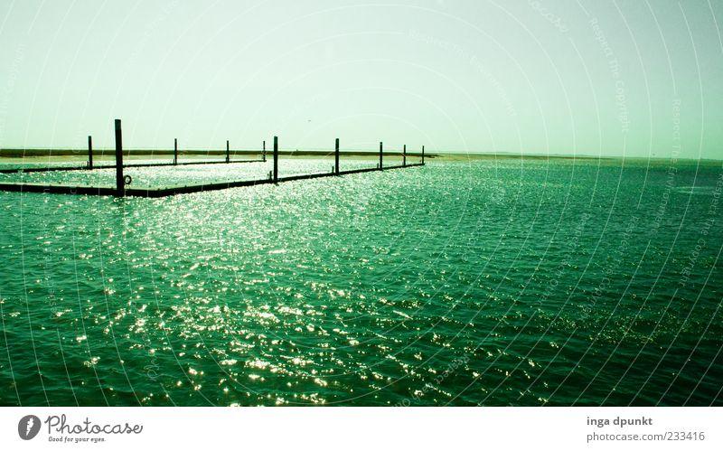 The Green Sea Himmel blau Wasser grün schön Ferien & Urlaub & Reisen Meer Erholung Umwelt Gefühle Ausflug Tourismus außergewöhnlich ästhetisch Insel Nordsee