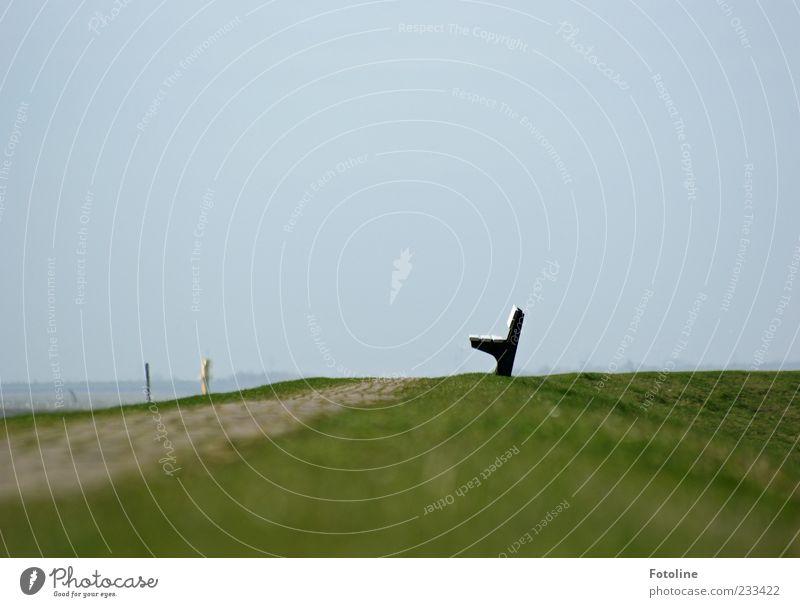 Spiekerook I - Auf m Deich - Himmel Natur grün Wiese Wege & Pfade hell Bank Rasen