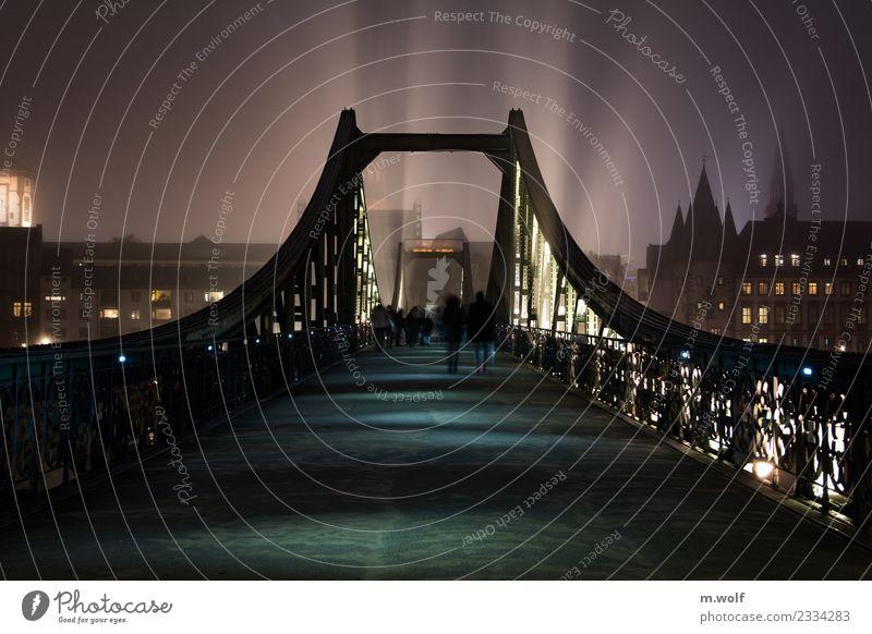 Eiserner Steg Frankfurt Frankfurt am Main Hessen Deutschland Europa Stadt Stadtzentrum Brücke Architektur Sehenswürdigkeit Wahrzeichen Fußgänger ästhetisch
