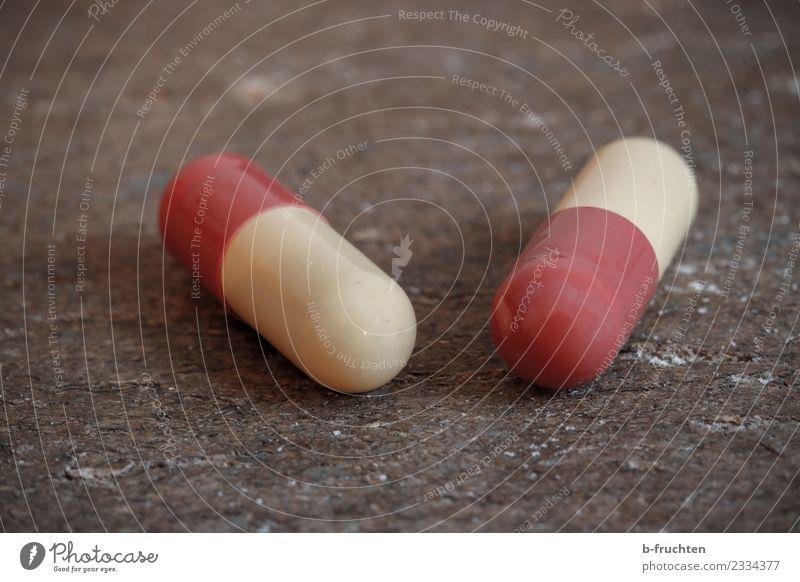 Arznei-Kapseln Diät liegen Gesundheit Drogensucht Gesundheitswesen Medikament Tablette 2 Die Pille Sucht Rauschmittel Farbfoto Studioaufnahme Makroaufnahme