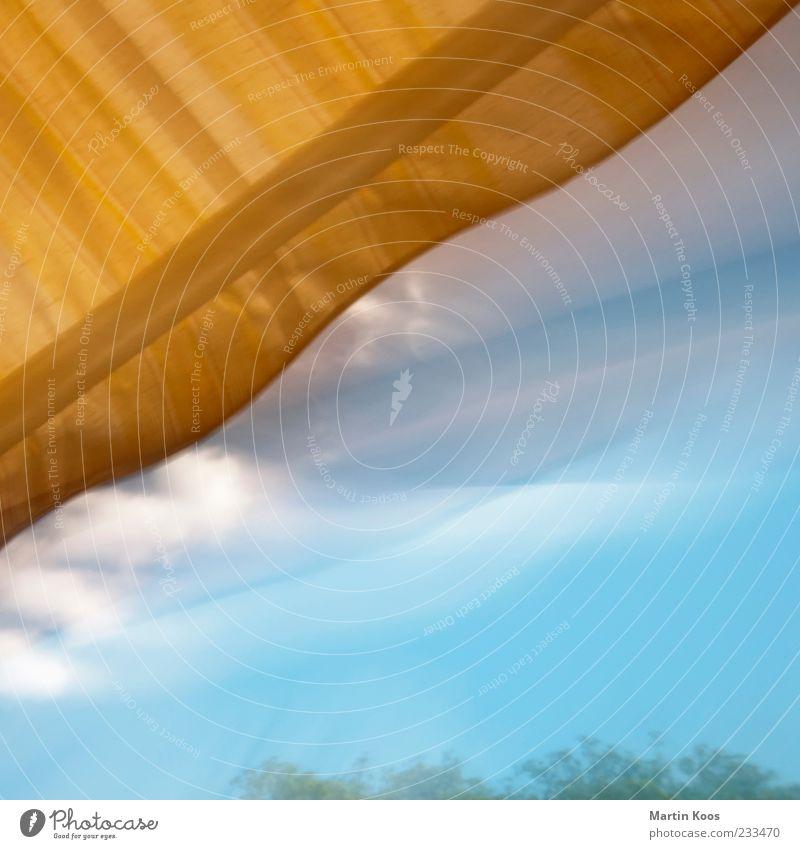 Jetzt Himmel blau Wolken außergewöhnlich Perspektive Schönes Wetter chaotisch Surrealismus Wetterschutz Schutz traumhaft Schwerpunkt abstrakt