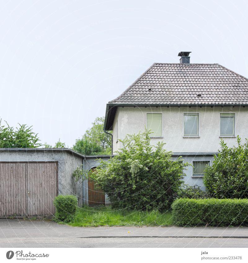 vorderansicht blau grün Baum Pflanze Blatt Haus Fenster Architektur grau Gras Gebäude Tür Autofenster Fassade trist Sträucher