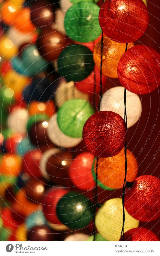 bunt Spielen Glück Lampe Fröhlichkeit leuchten Dekoration & Verzierung rund einzigartig fantastisch trendy Lampion Lichterkette mehrfarbig Sommerfest Lichtermeer