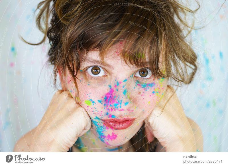 Mensch Jugendliche Junge Frau schön Freude 18-30 Jahre Gesicht Erwachsene Leben Lifestyle feminin Stil Kunst Design frisch Kultur