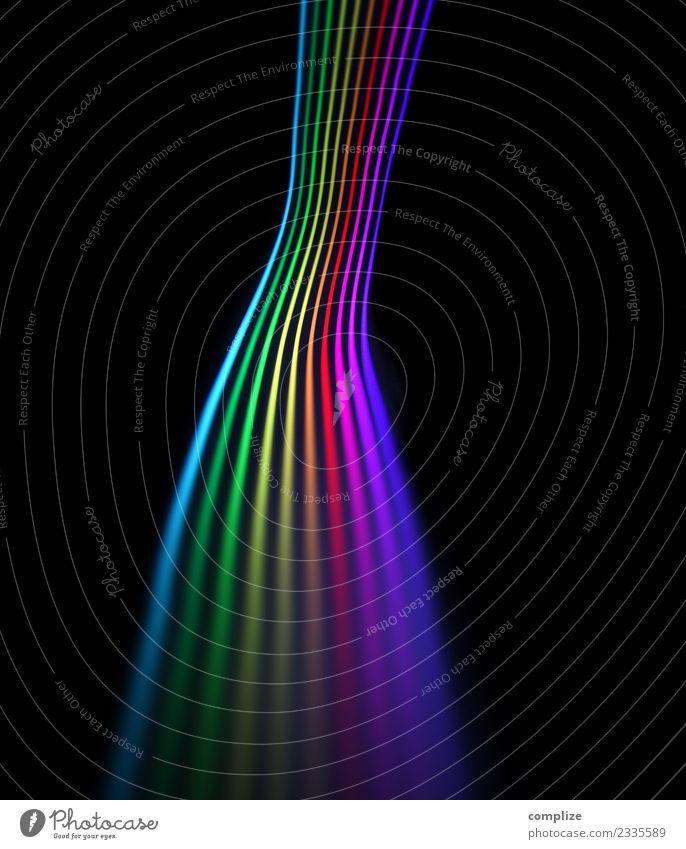 Lichtspur Farbspektrum Farbstoff Feste & Feiern Technik & Technologie Telekommunikation Zukunft Internet Informationstechnologie Wissenschaften Regenbogen