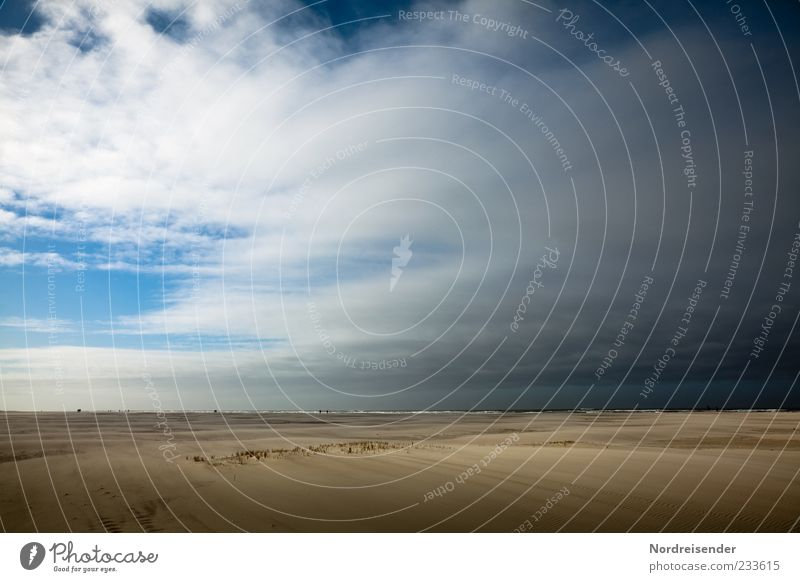 Spiekeroog | Weites Land Himmel Natur Meer Strand ruhig Ferne Leben Landschaft Freiheit Sand Stimmung Horizont Wetter Klima bedrohlich Nordsee