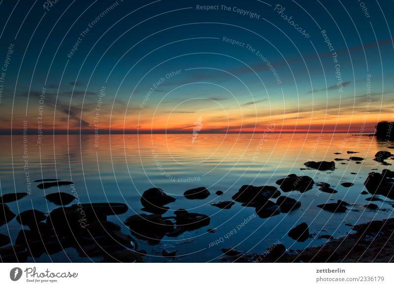 Klein Zicker Sonnenuntergang Farbverlauf Dämmerung Abend Feierabend Ferne Himmel Himmel (Jenseits) Horizont Menschenleer mönchgut Natur ruhig Denken