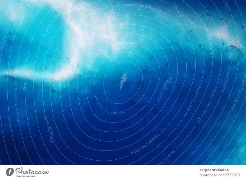 Traum Kunst Wasser Kunststoff leuchten fantastisch Flüssigkeit frisch kalt nass Sauberkeit blau ruhig Reinheit Farbe Klima rein Farbfoto Makroaufnahme