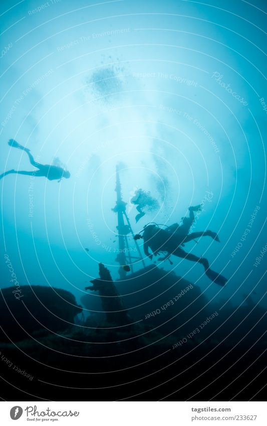 MAURITIUS Natur blau Wasser Ferien & Urlaub & Reisen Sommer Meer ruhig Erholung träumen Wasserfahrzeug Schwimmen & Baden Reisefotografie Idylle tauchen